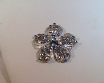 Light Blue Flower Brooch