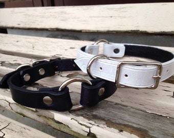 Leather dog collar 3/4""