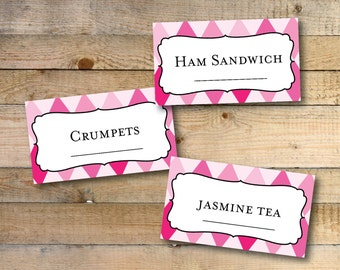 Alice In Wonderland Printable Tent Cards / Place Cards