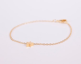 Bracelet Gold Star Love Chain Plated Starlet Gold Plated Bracelet Chain Gold Plated