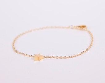 Bracelet Gold Star Love Chain Plated Starlet Gold Plated Bracelet Chain Gold Plated