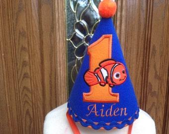 Nemo Boys Birthday Hat - Finding Nemo Party Hat