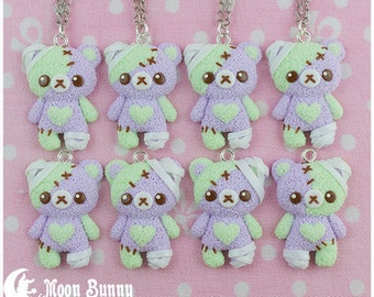 Pastel ice-cream bear (zombie) Necklace