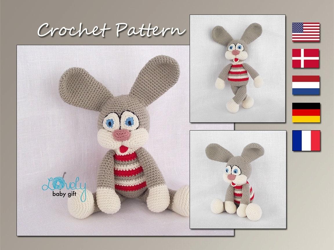 Amigurumi Toys Pattern : Amigurumi Pattern Crochet Amigurumi Toy Crochet Bunny