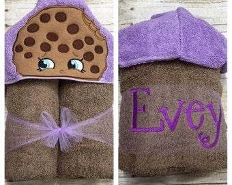 Cookie Hooded Towel/ Cookie Costume/ Cookie Party/ Beach Towel/ Pool Towel/ Personalized Towels for Kids/ Baby Hooded Bath Towel
