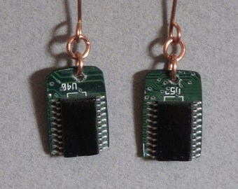 Electronic Chip Motherboard Computer Earrings