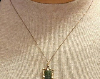 Lovely GF Bamboo & Jade Krementz Necklace.