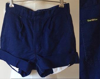 Blue cut off shorts // vintage cut off shorts // navy royal blue vintage denim shorts