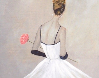 Giclee of Original Oil Painting, Waiting