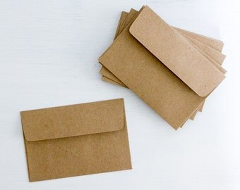 12 Kraft Paper Envelopes, 4 x 2.75 inches
