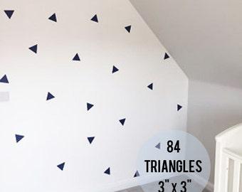 """84 Vinyl Peel & Stick Wall Triangles - Triangle Shape Geometric Sticker - 3"""" x 3"""""""