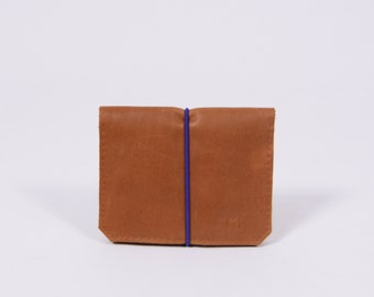 Leather wallet Isaac in brown