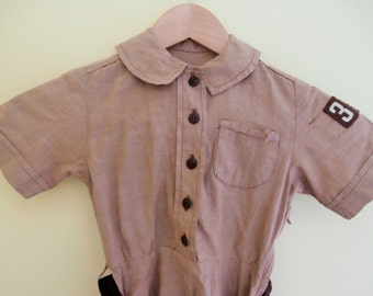 Vintage, 1950's, Brownie, Girl Scout, Uniform, Cotton Dress