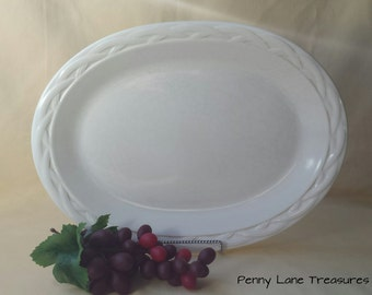 pfaltzgraff usa large serving platter acadia white oval large plate - Pfaltzgraff Patterns