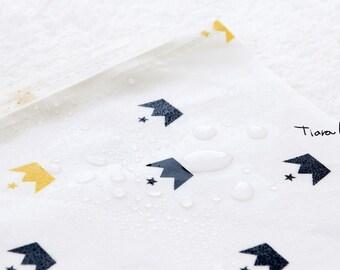 "Laminated cotton Fabrics yard Waterproof oilcloth vinyl PVC wide 43""_Tiara_SAM25553"