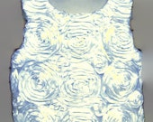 Rosette top, Flowergirl Top, Rosette, Miss Peacock top, Flower girl,