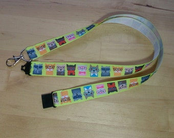 Cool for Cats! (& Dogs) Ribbon Lanyard / ID Badge Holder