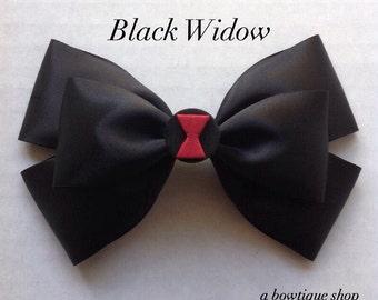 black widow hair bow