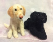 Needle Felted Dog  - Pet Memorial -  Custom Pet Portrait Sculpture - Needle Felted Dogs - Dog Cake Topper - Wedding Cake Topper With Dog