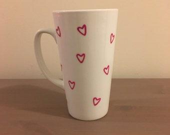 Heart Pattern Mug, Love, Valentine's Day