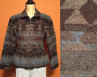 Geometric 80s jacket