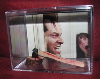 """Side View--- *The Shining* Collectible""""Here's Johnny!! Axe Display/Not Jacks But it'll Do!!"""