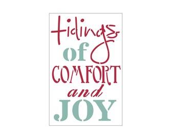 Comfort and Joy Craft Stencil