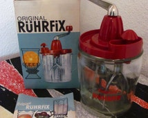 "Original 1960s Vintage ""Rührfix"" from  Germany - Hand mixer - Mid Century - Kitchen appliance"