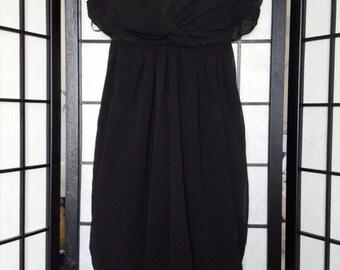 Black tulip dress, open back  size M