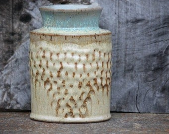 Flower Vase, Decorative Vase, Textured vase, Altered vase