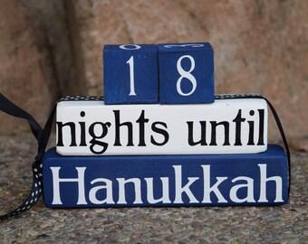Hanukkah Countdown Blocks Chanukah Sign By