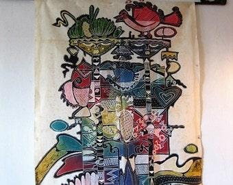 Javanese Colourful Batik Painting