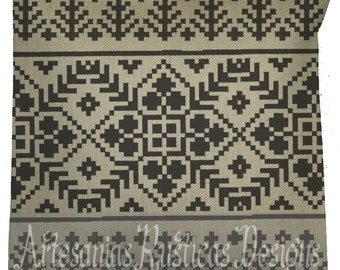Christmas Pillow 100% Premium Sand Burlap ClassicNordic Knit Pattern Throw Pillow Euro Sham