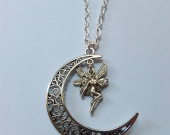 fairy moon necklace fantasy medieval