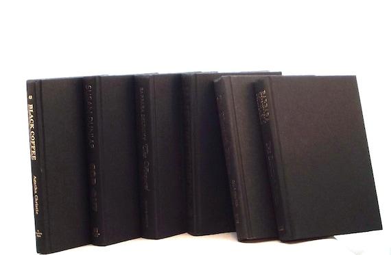 Charcoal black decorative books charcoal black book