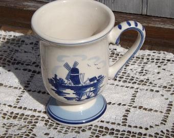 Delft Blue Mug/Vintage Mug/Blue and White Mug/House Wares/Kitchen and Dining