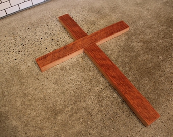 Rustic Reclaimed Wood Cross - Rough Saw Fir - Wooden - Distressed - Christian - Simple