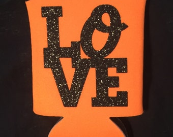Baltimore Orioles Love Glitter Can Cooler -Buy 4 Get 1 Free