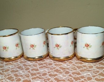Porcelain Opalescent Espresso Mugs (4 PC)