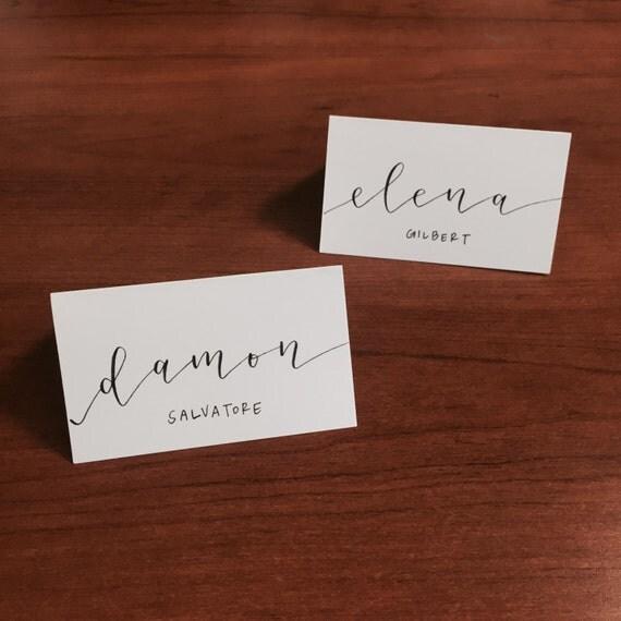 Full name hand lettered modern calligraphy custom place