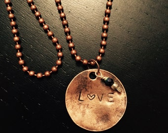 Love with heart necklace