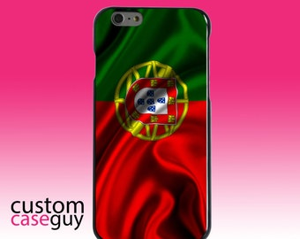 Hard Snap-On Case for Apple 5 5S SE 6 6S 7 Plus - CUSTOM Monogram - Any Colors - Portugal Waving Flag