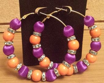 Basketball wives inspired purple and orange hoop