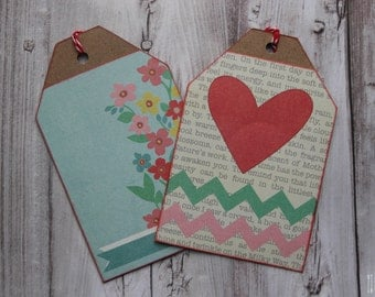 Floral Heart Gift Tag Set