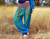 Winter SALE ~ Turquoise Peacock Harem Trousers