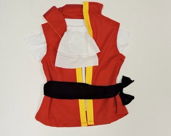 Captain Hook Top or Top&Shorts -Hook Costume -Captain Jake- Halloween Outfit-Disney Cruise Pirate- Hook Outfit -Peter Pan 12M to 7Years