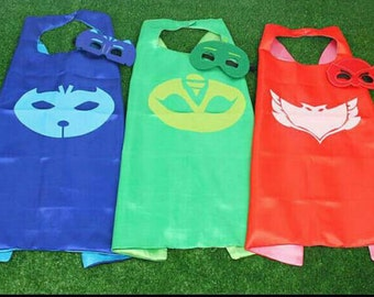 Bedtime Kids Superhero Cape - Superhero Party - Owl - Cat - Gekko - Cape-Birthday Cape-SuperHero Birthday Cape