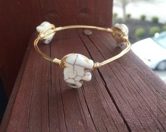 Elephant Wire Bangle Bracelet