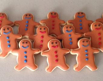 2 dozen Mini Gingerbread Men Sugar Cookies