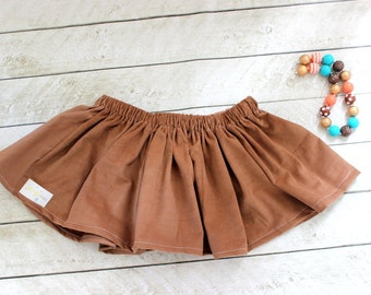 girls corduroy skirt fall skirt fall skirt cotton brown corduroy fall skirt fall clothing birthday skirt